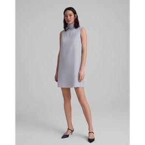 NWT Club Monaco Grey Jourdan Dress, Ribbed Turtleneck Mini Sleeveless Dress, 4